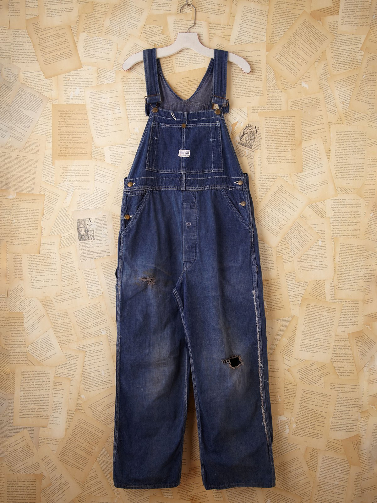 Vintage Denim Bib Overalls