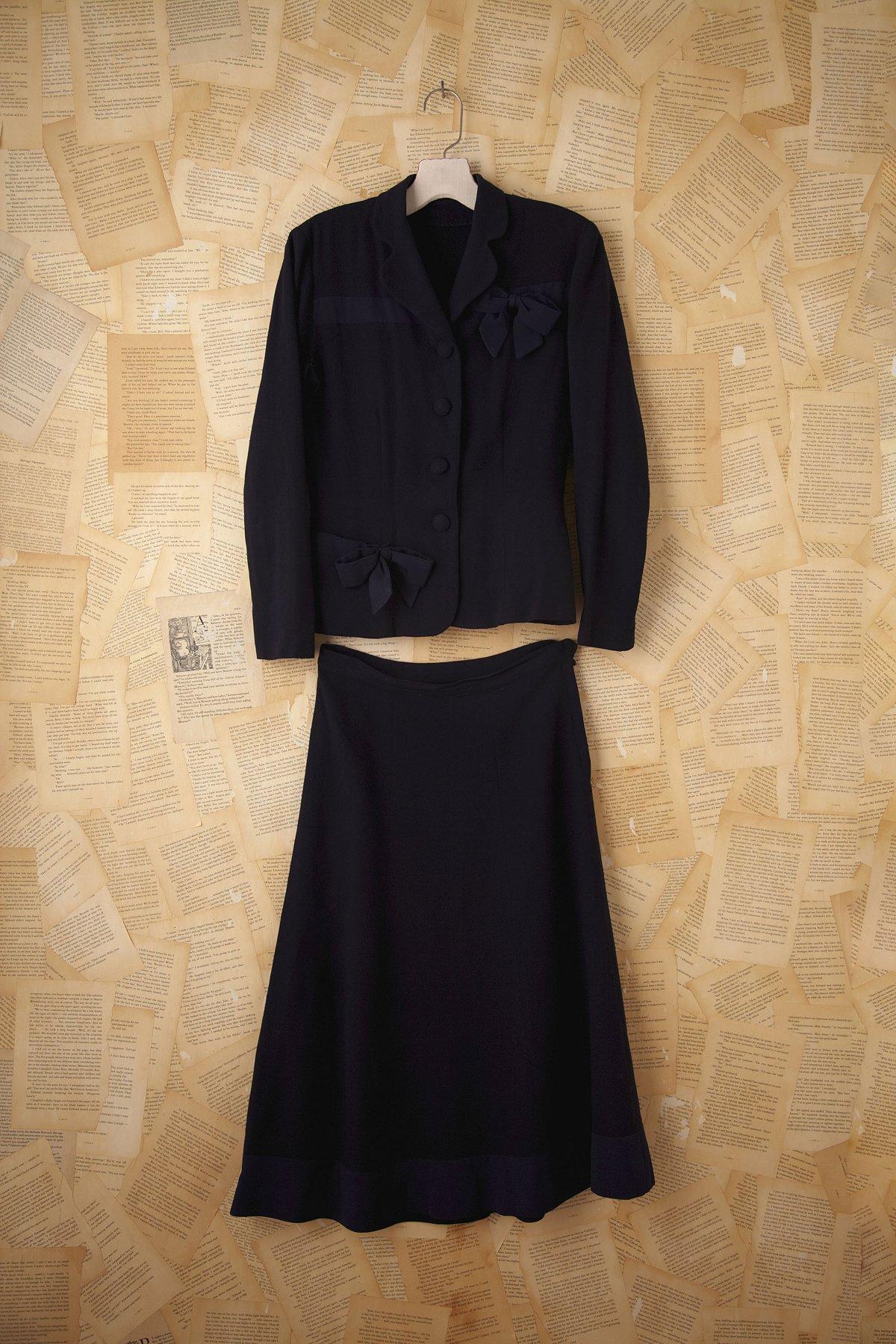 Vintage Navy Wool Suit