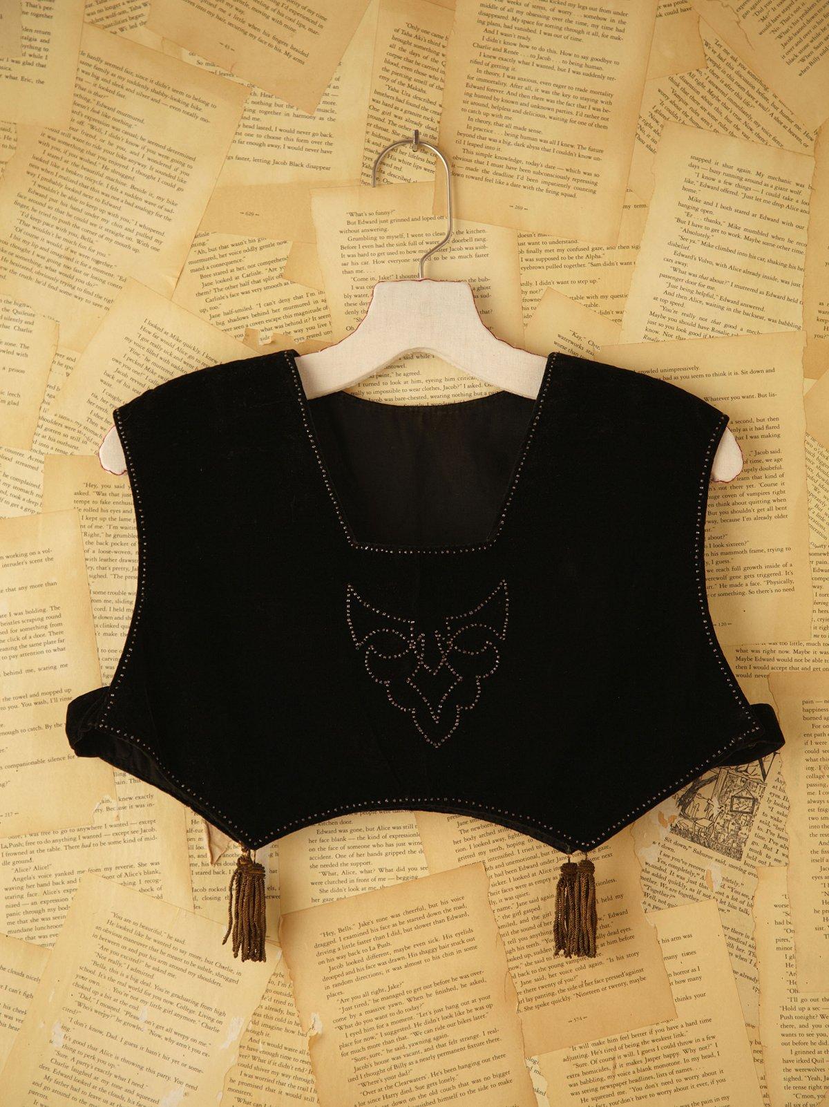Vintage Edwardian Velvet Vest