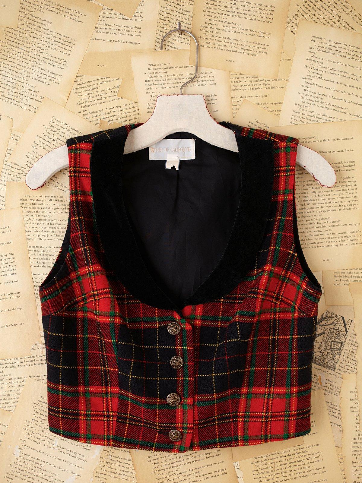 Vintage Plaid Vest