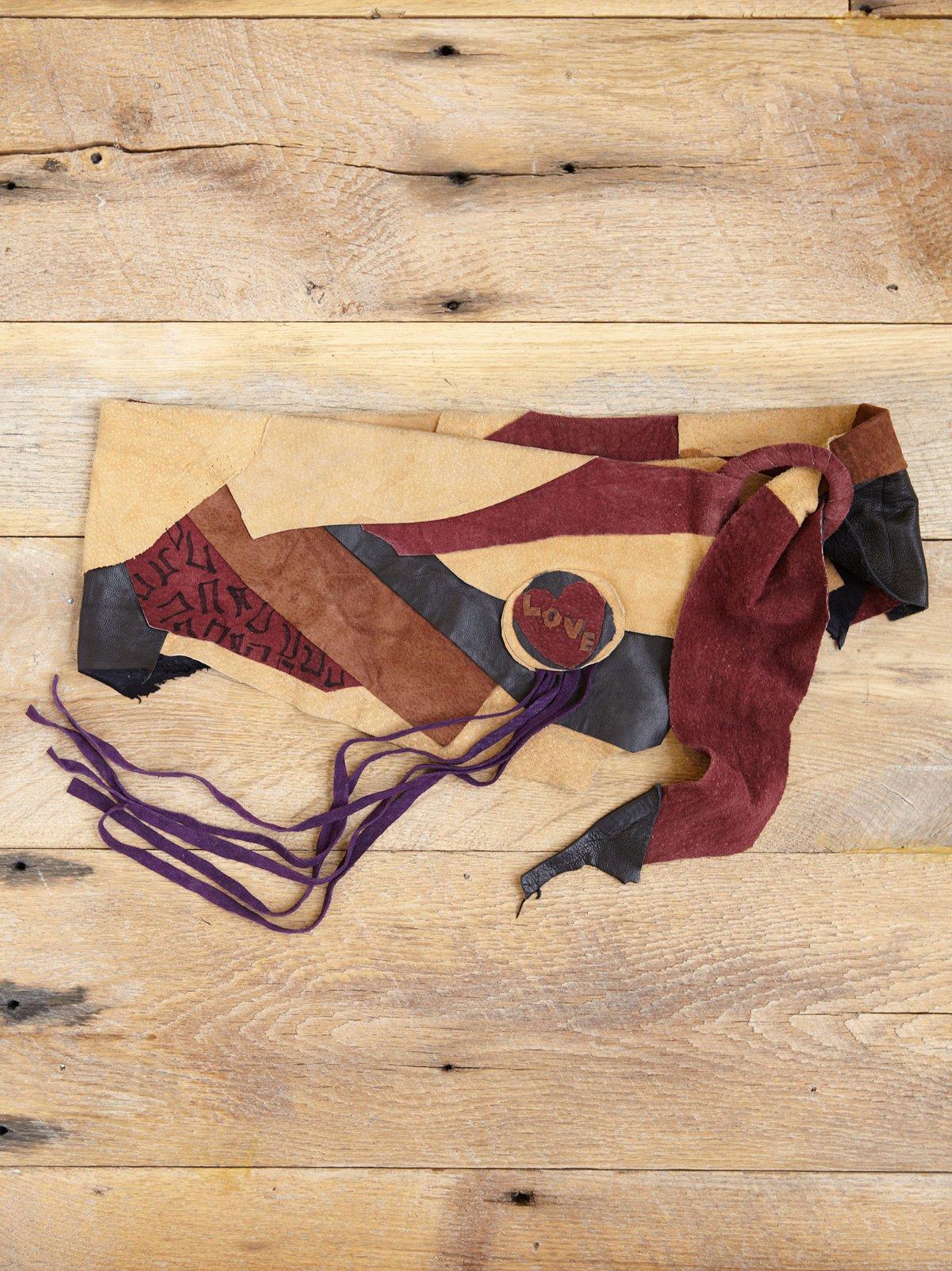 Vintage Leather Patchwork Belt