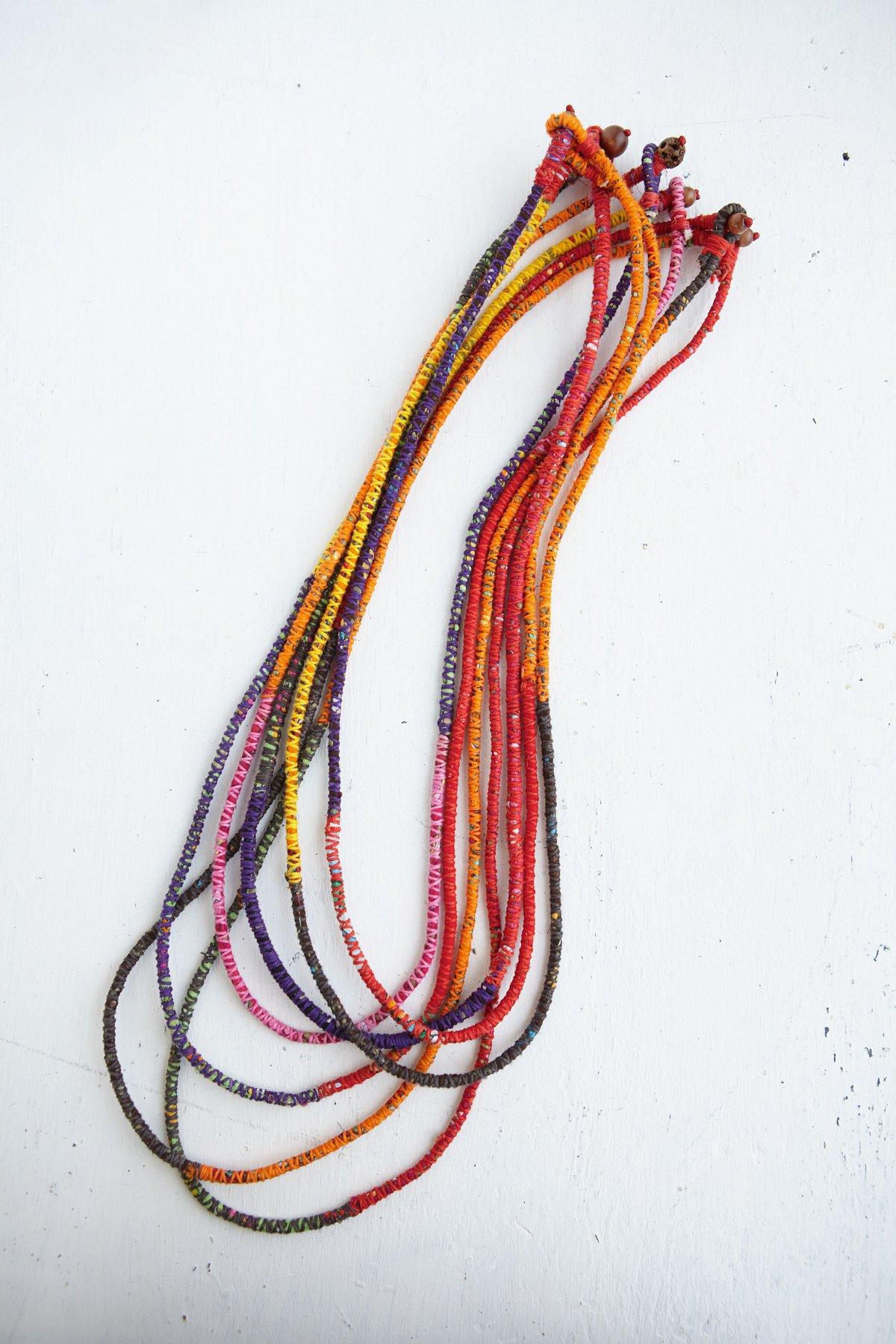 Vintage Cotton Wrap Necklace