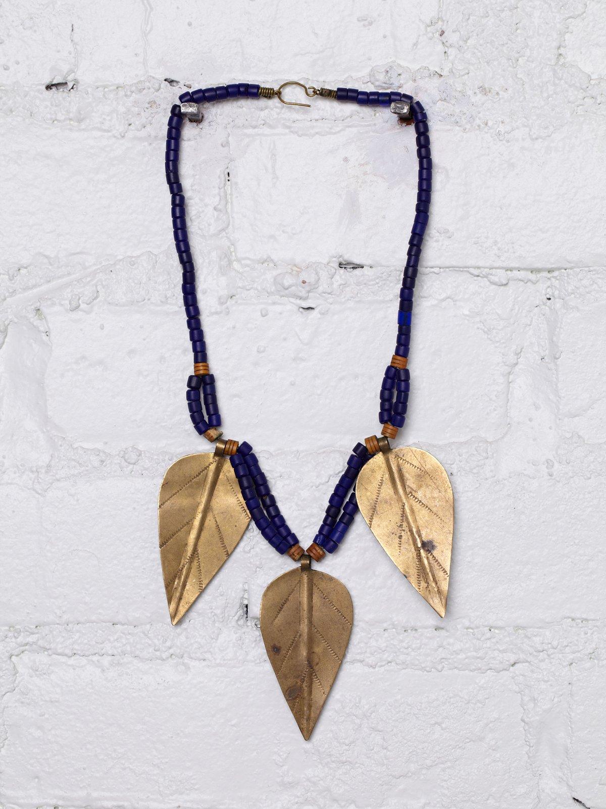 Vintage Tribal Brass Necklace