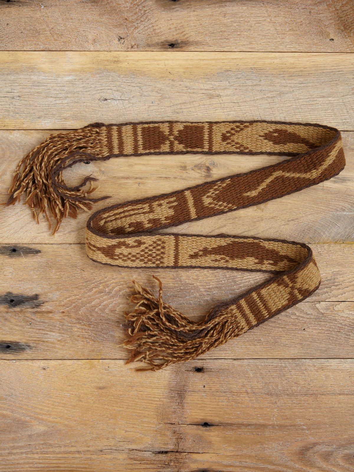 Vintage Woven Snake Belt