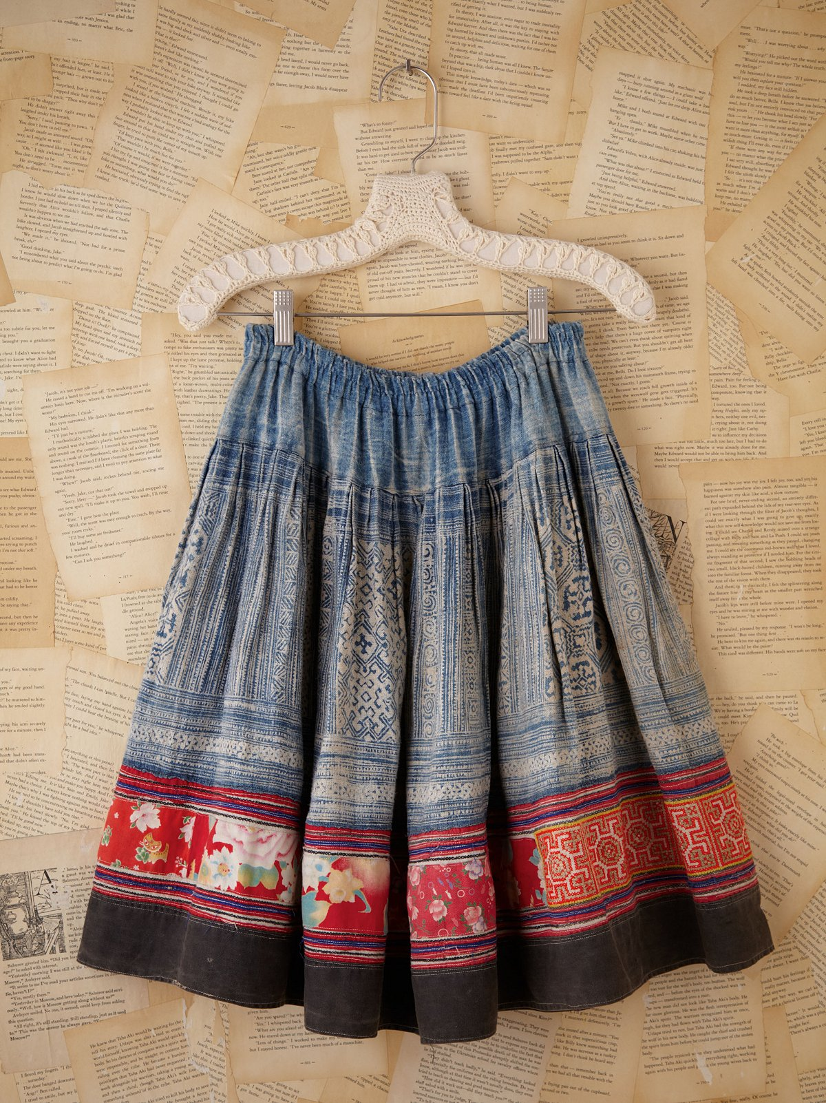 Vintage Multi Fabric Skirt