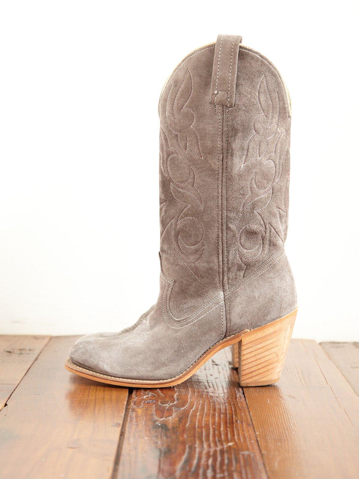 Vintage Suede Cowboy Boots