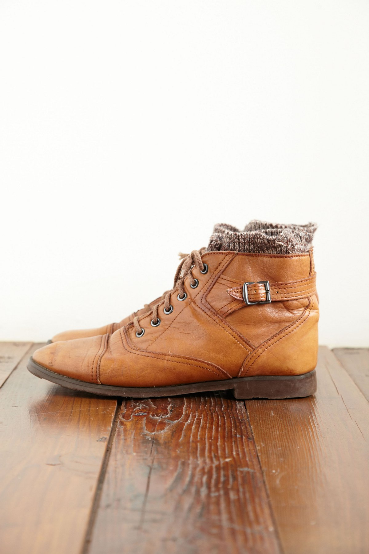 Vintage Knit Ankle Boots