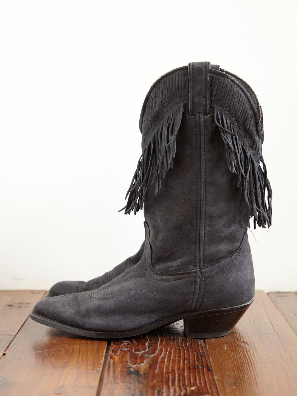 Vintage Fringe Cowboy Boots