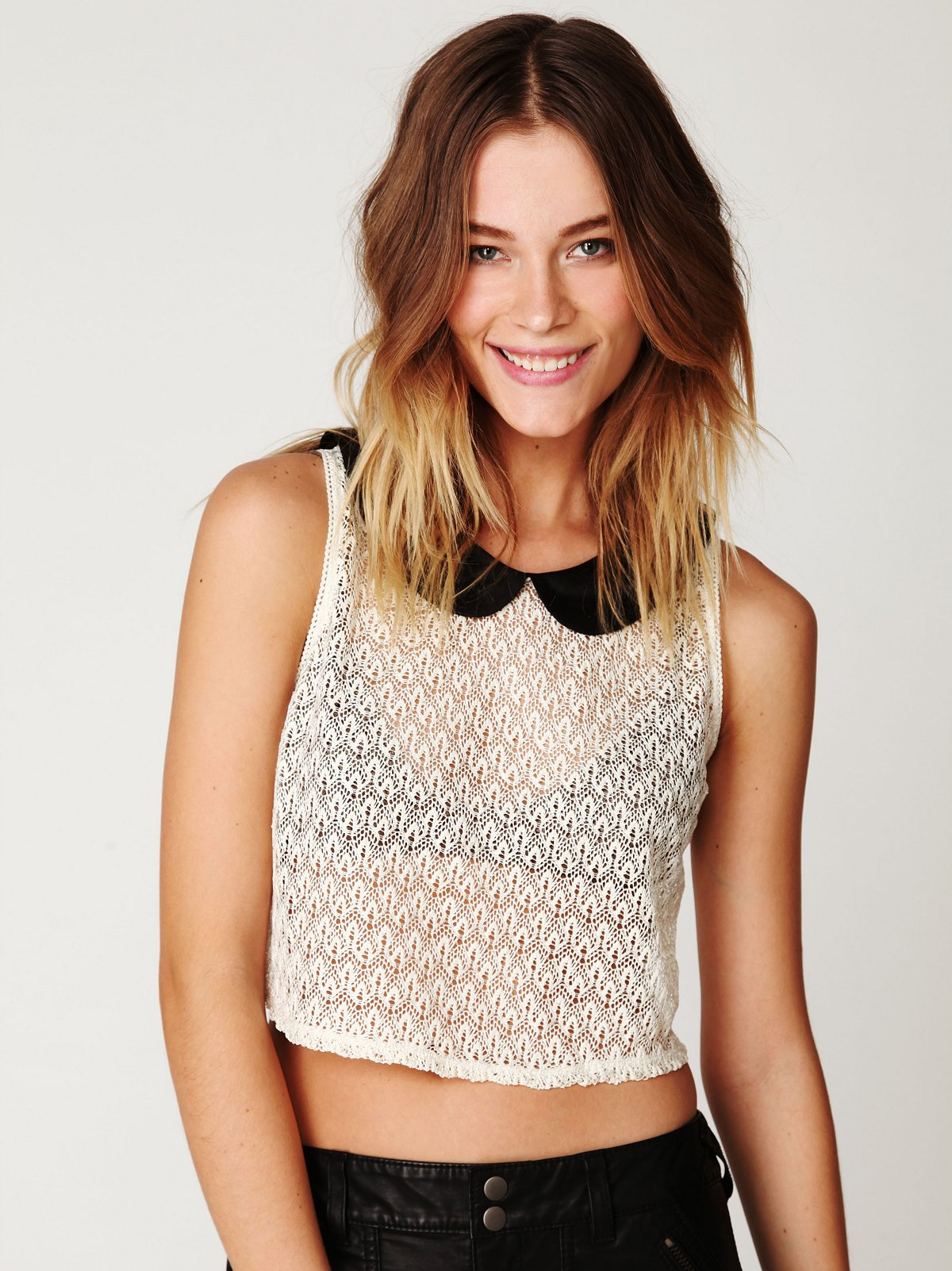 Peter Pan Lace Top