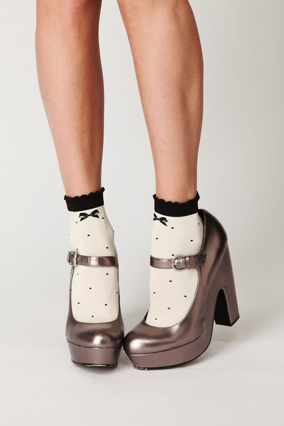 Black Tie Ankle Sock