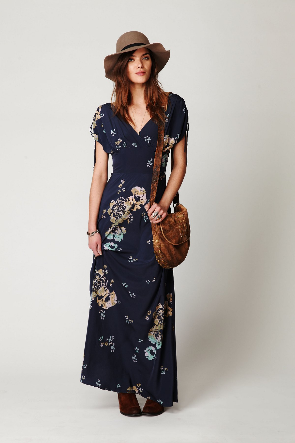 Short Sleeve Maxi Dress - Women's and Men Fashion