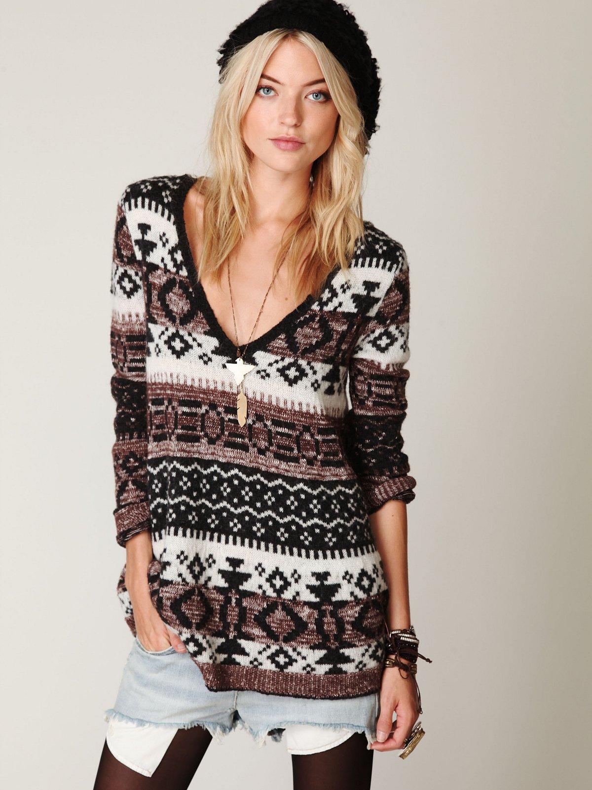 Fairisle VNeck Pullover