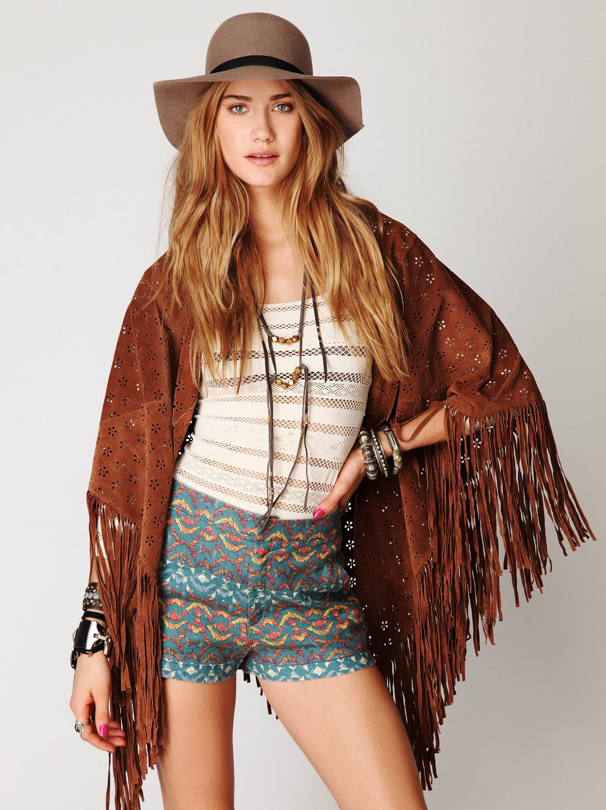 Age of Fringe Suede Scarf