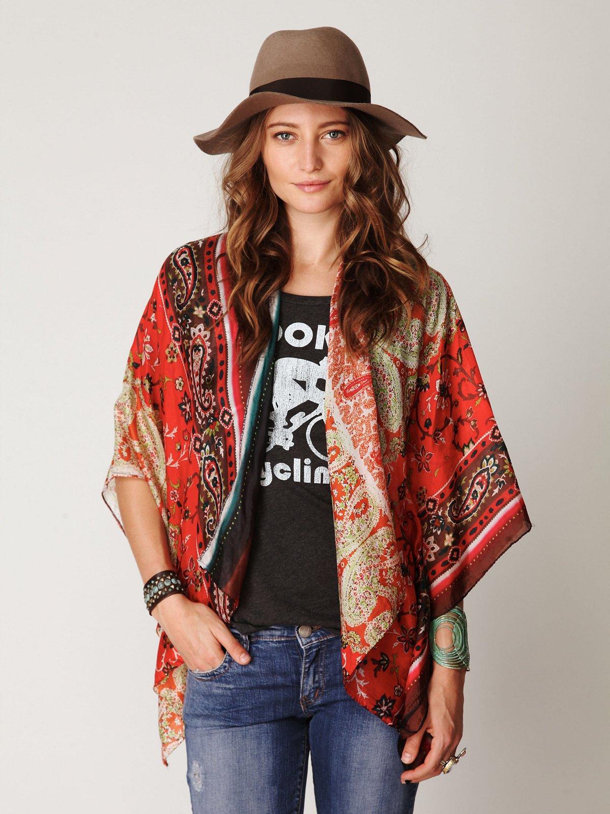 Parisian Print Kimono