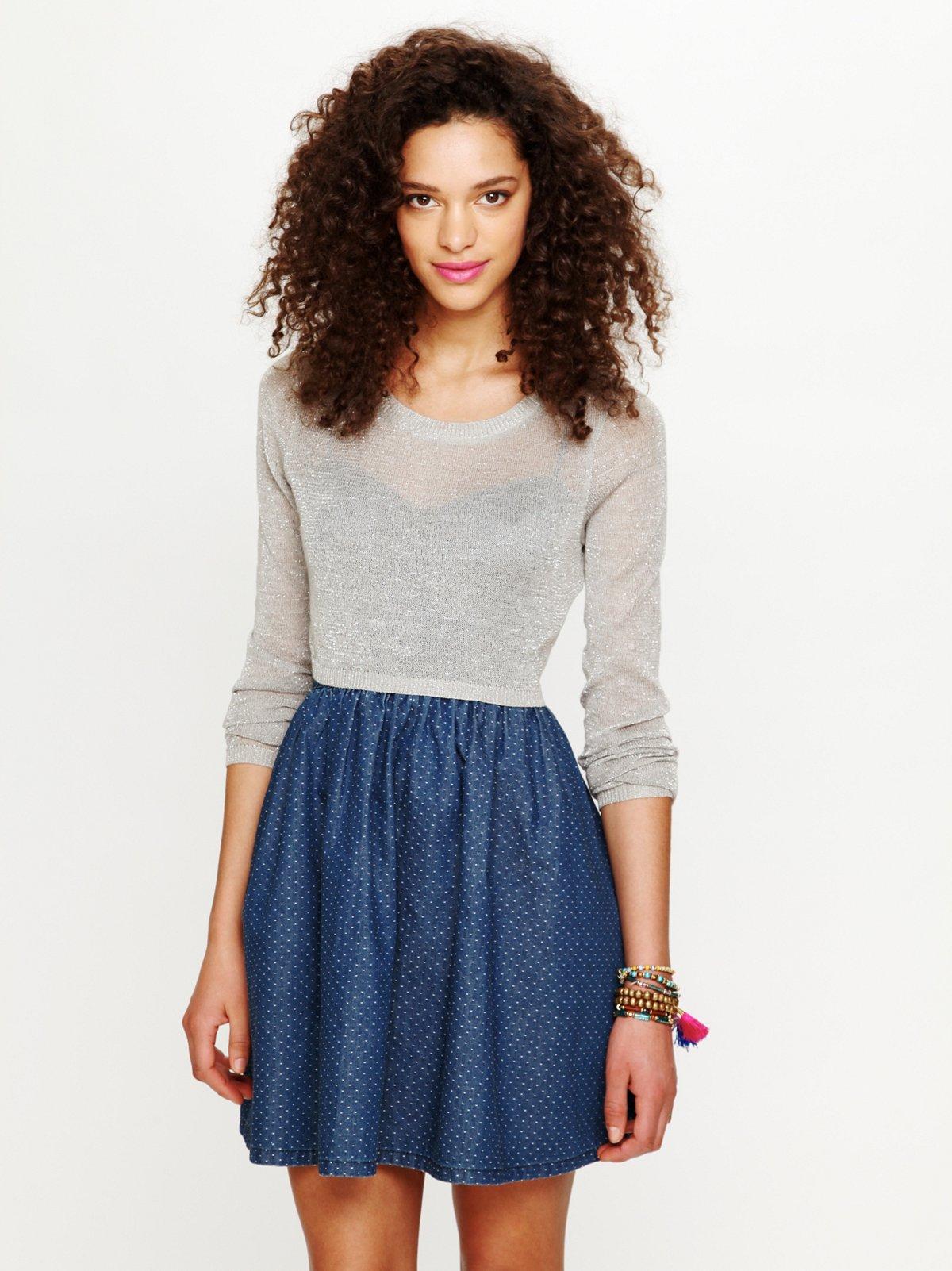 Lurex Crop Sweater