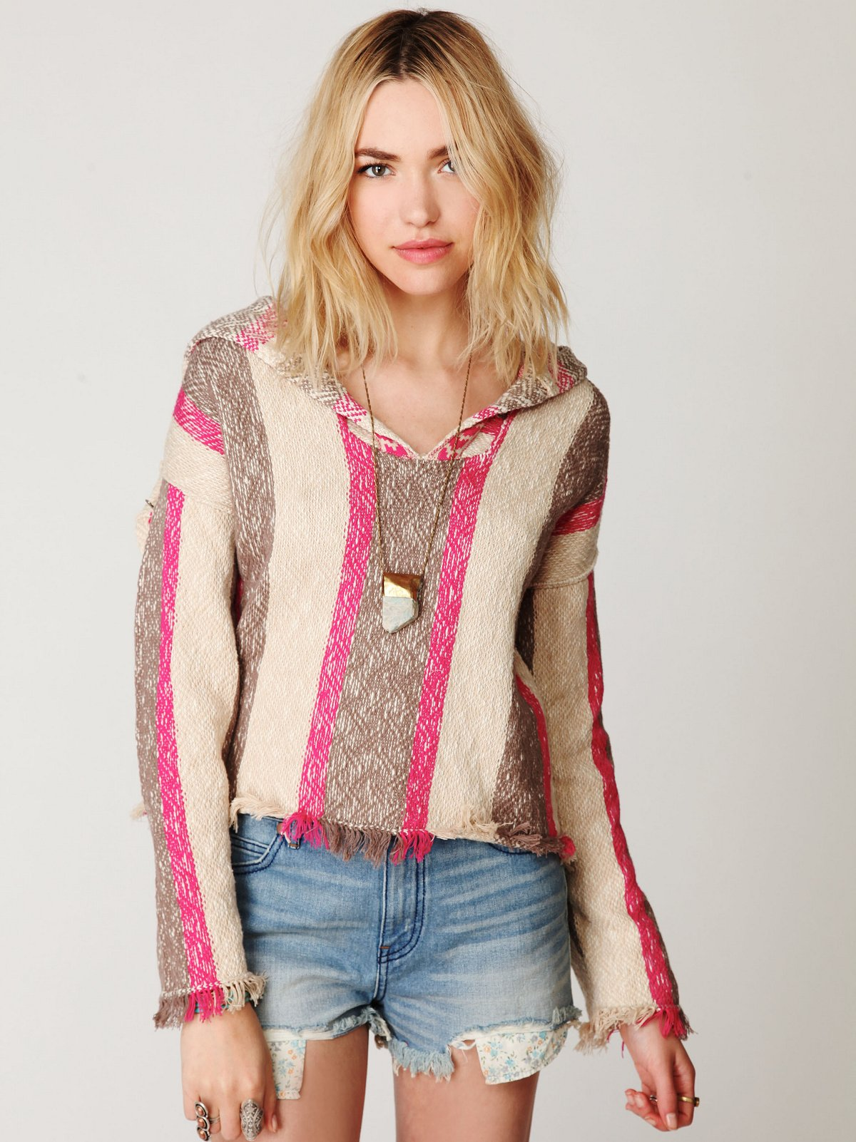 Stripe Baja Pullover