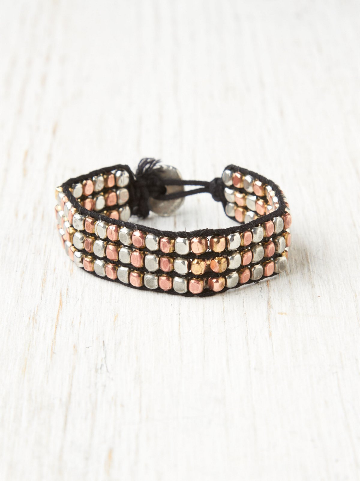 Mixed Metal Bead Bracelet