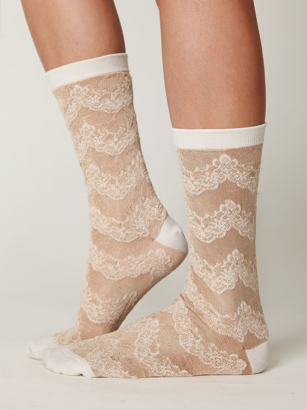 Victorian Lace Sock