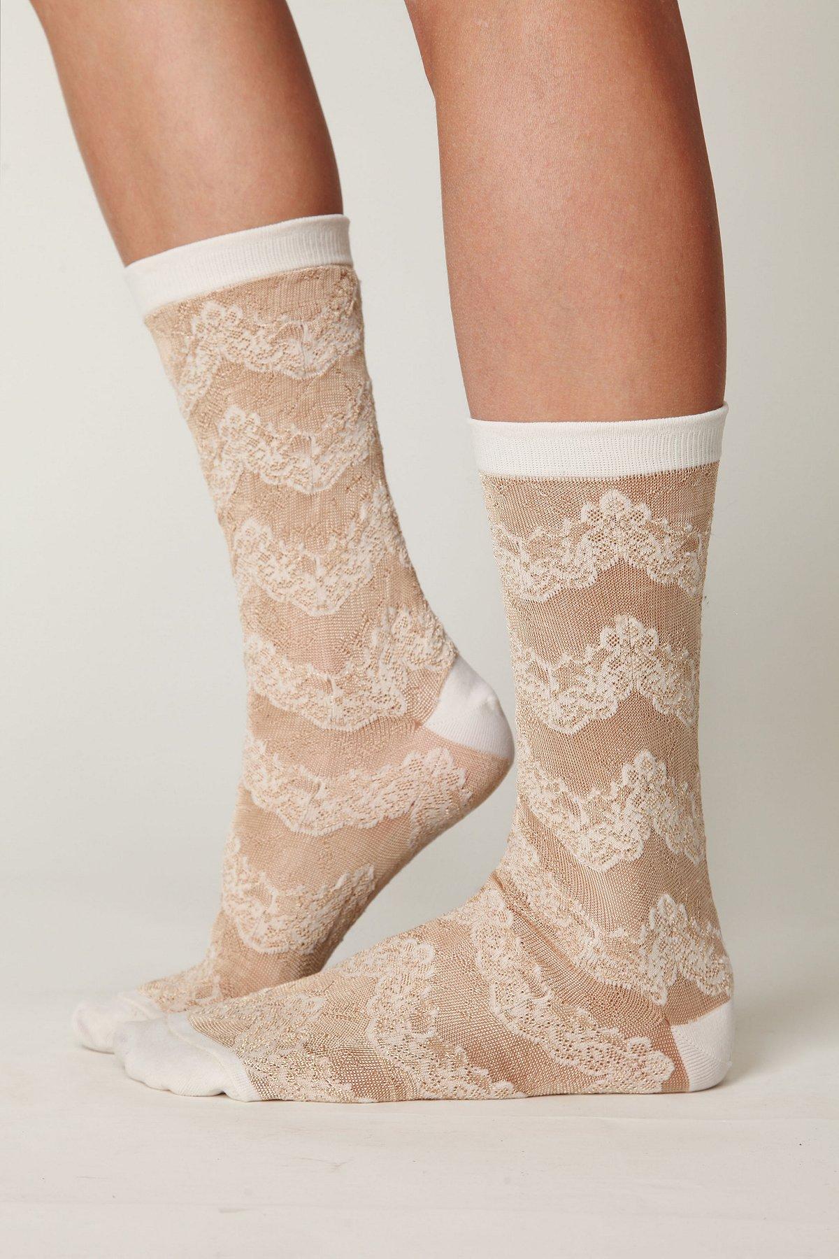 Victorian Lace Sock