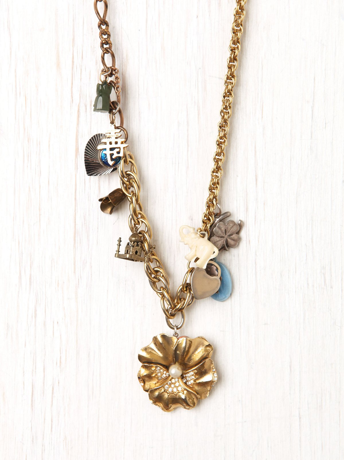 Flower Charm Necklace