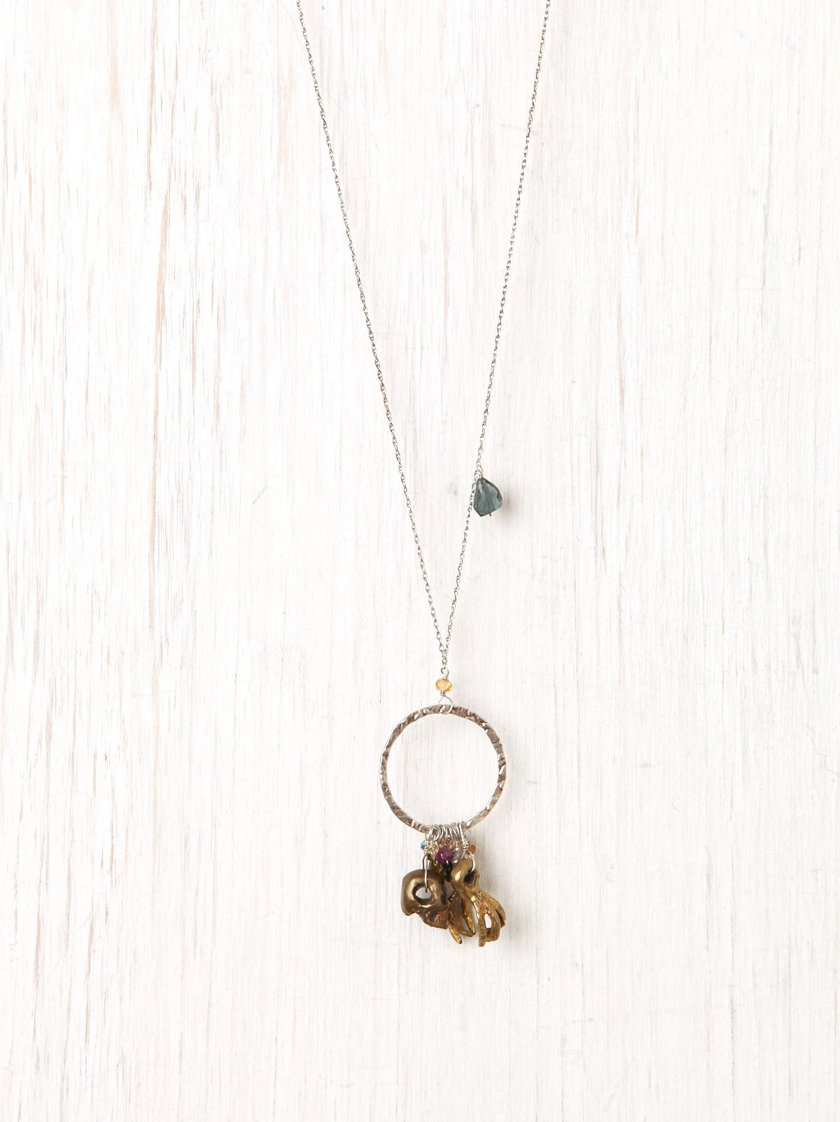 Skull and Claw Charm Necklace