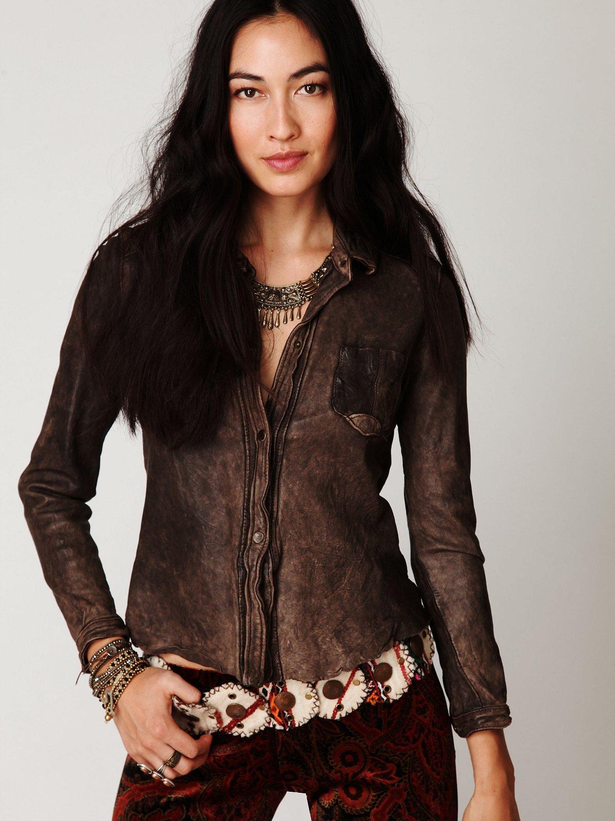 Leather Buttondown