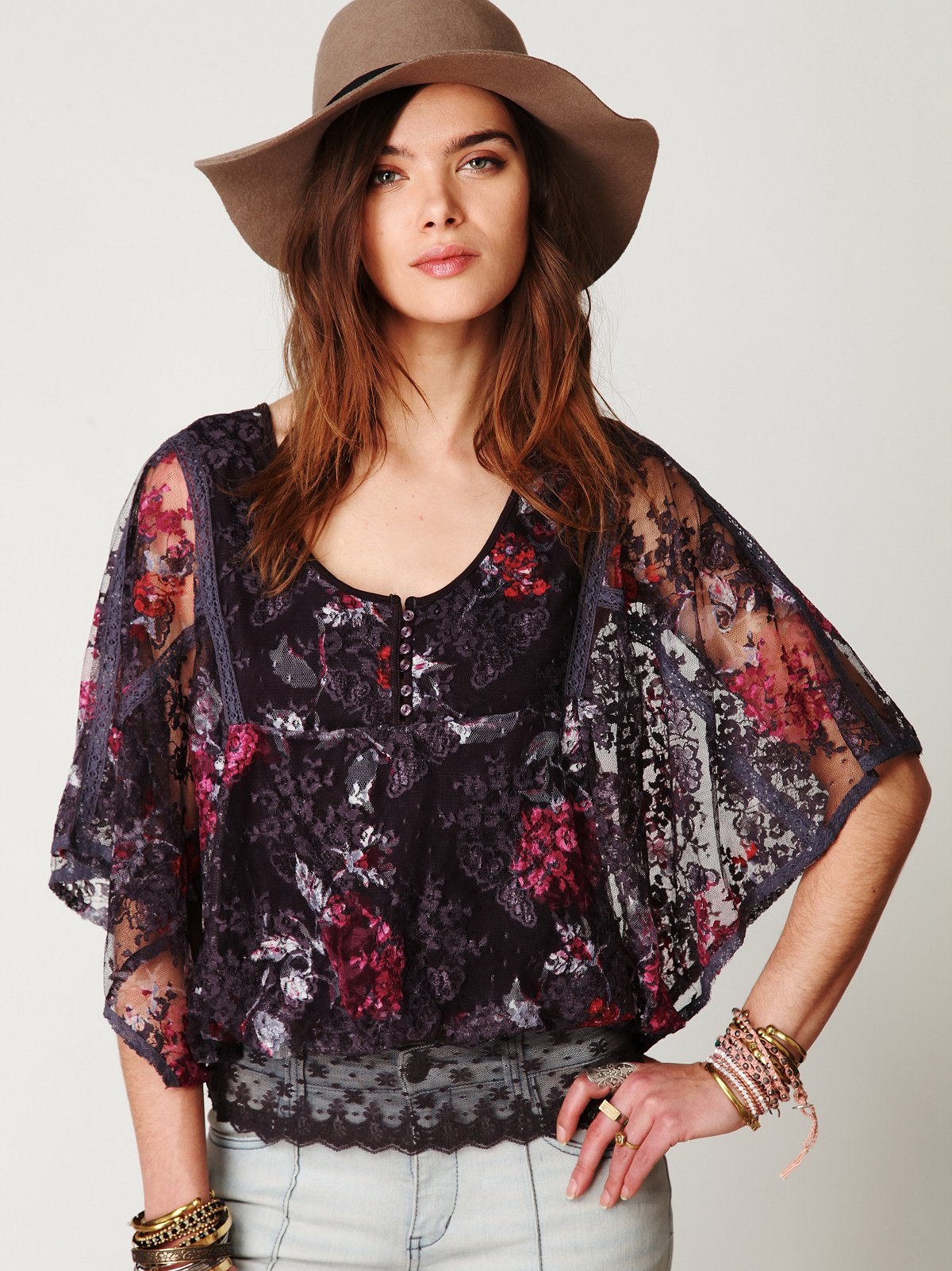 Floral Chrissy Lace Top