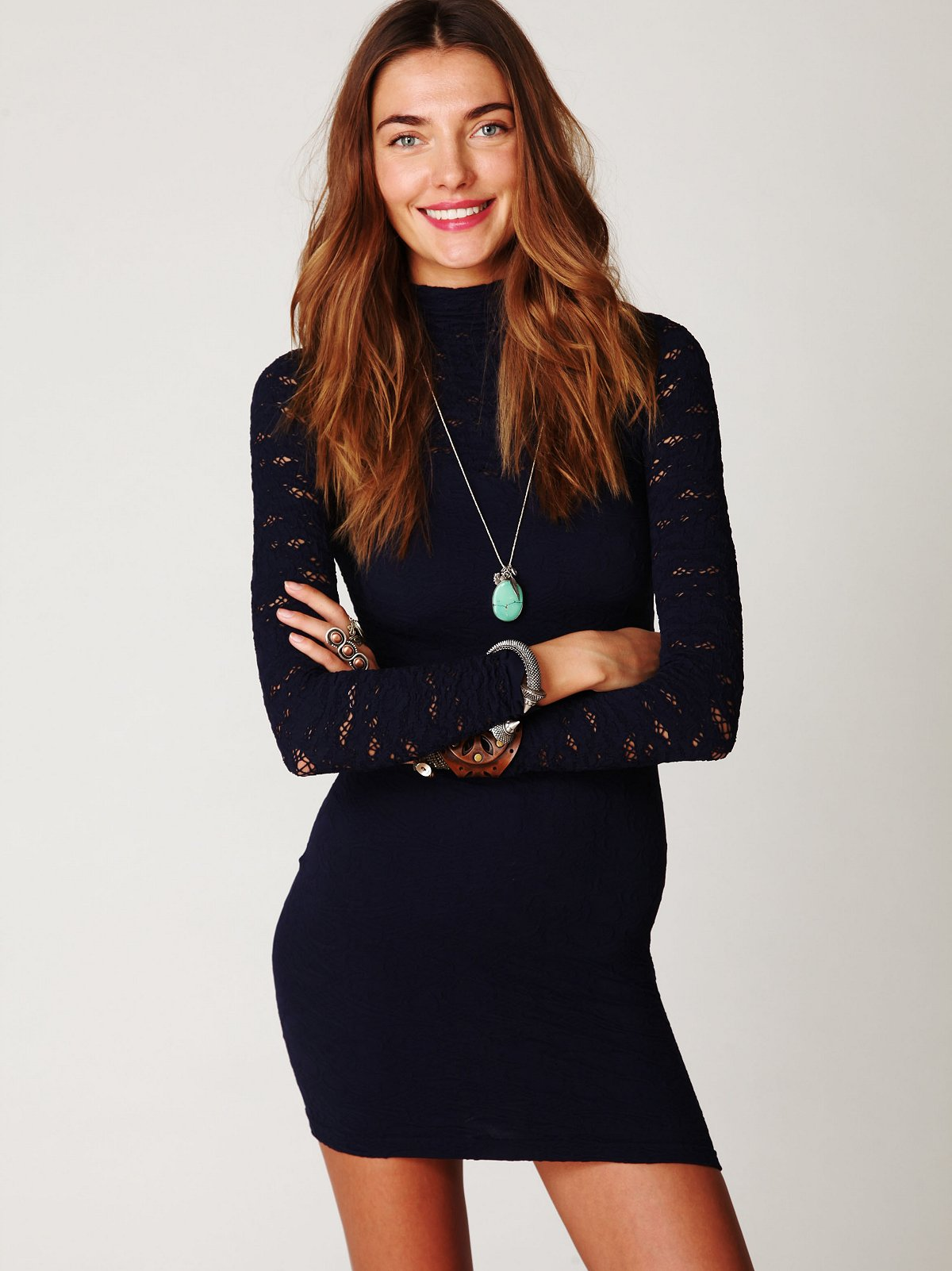 Ginger Long Sleeve High Neck Tunic