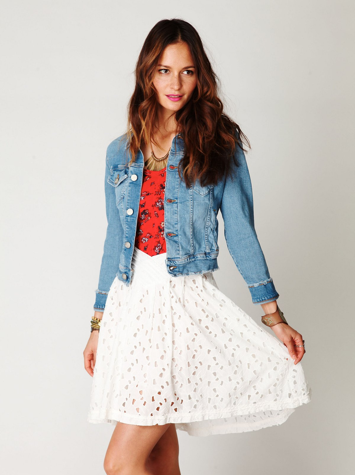 FP New Romantics Eyelet Field Day Skirt