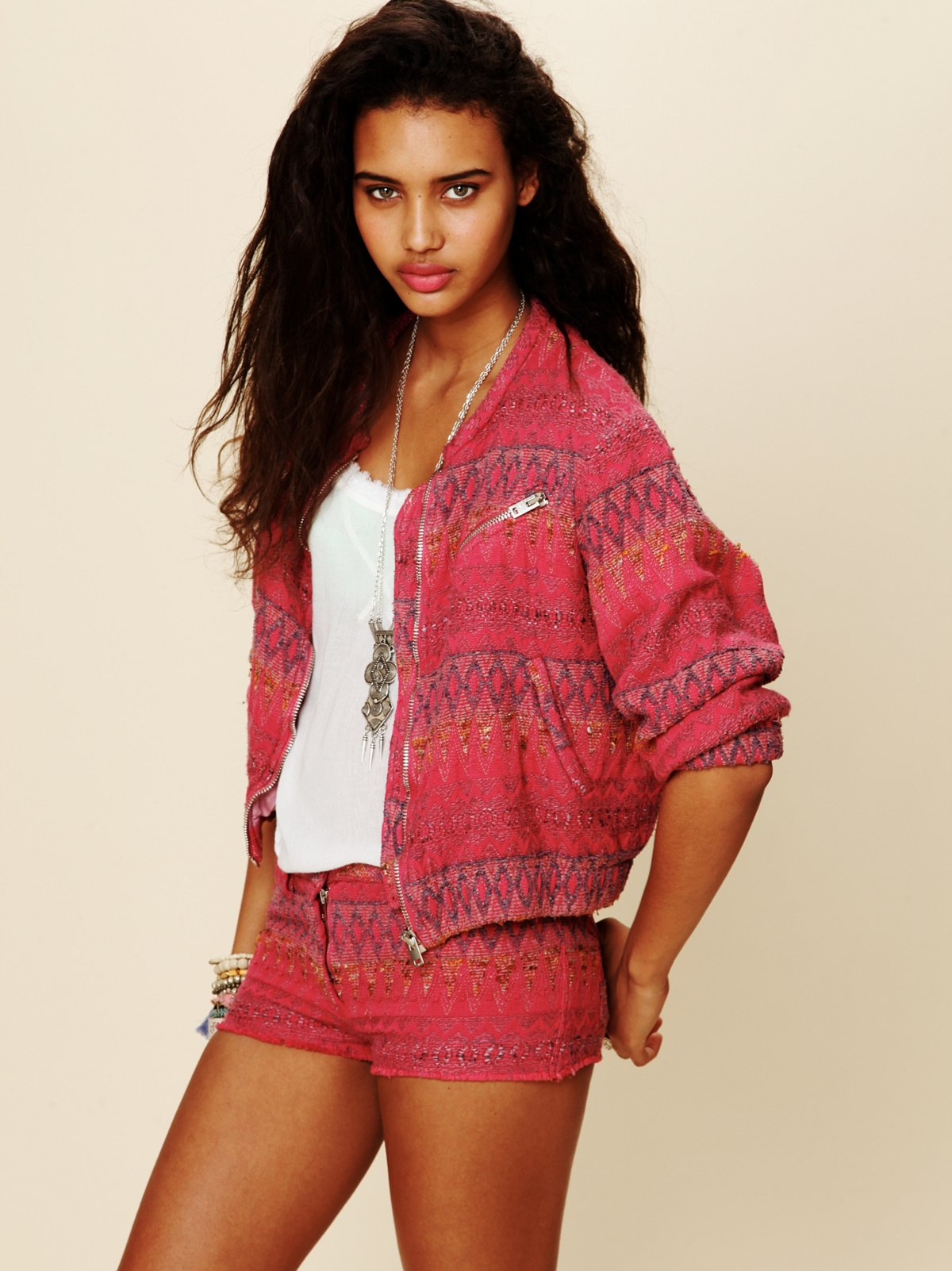 Textured Pattern Jacket