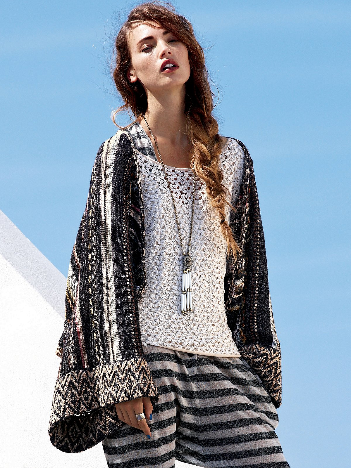 Kimono Striped Sweater