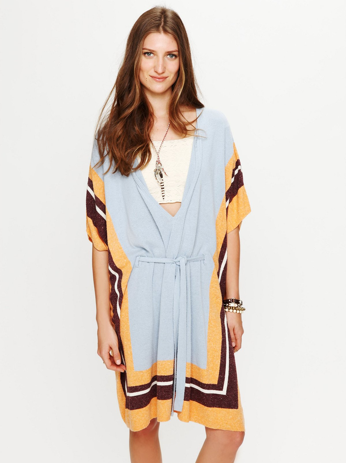 Silk Terry Poncho Dress