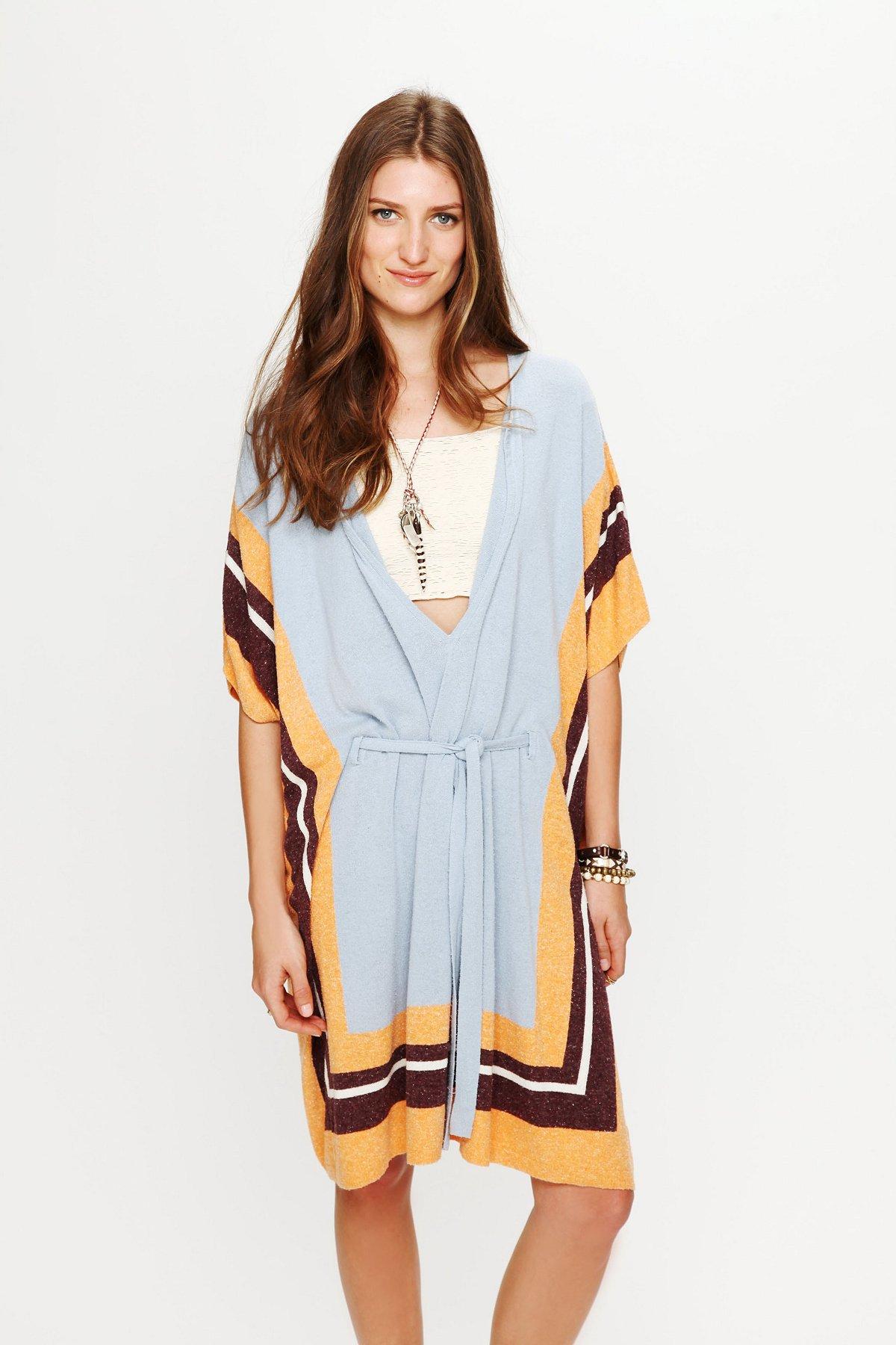 Silk Terry Poncho Dress