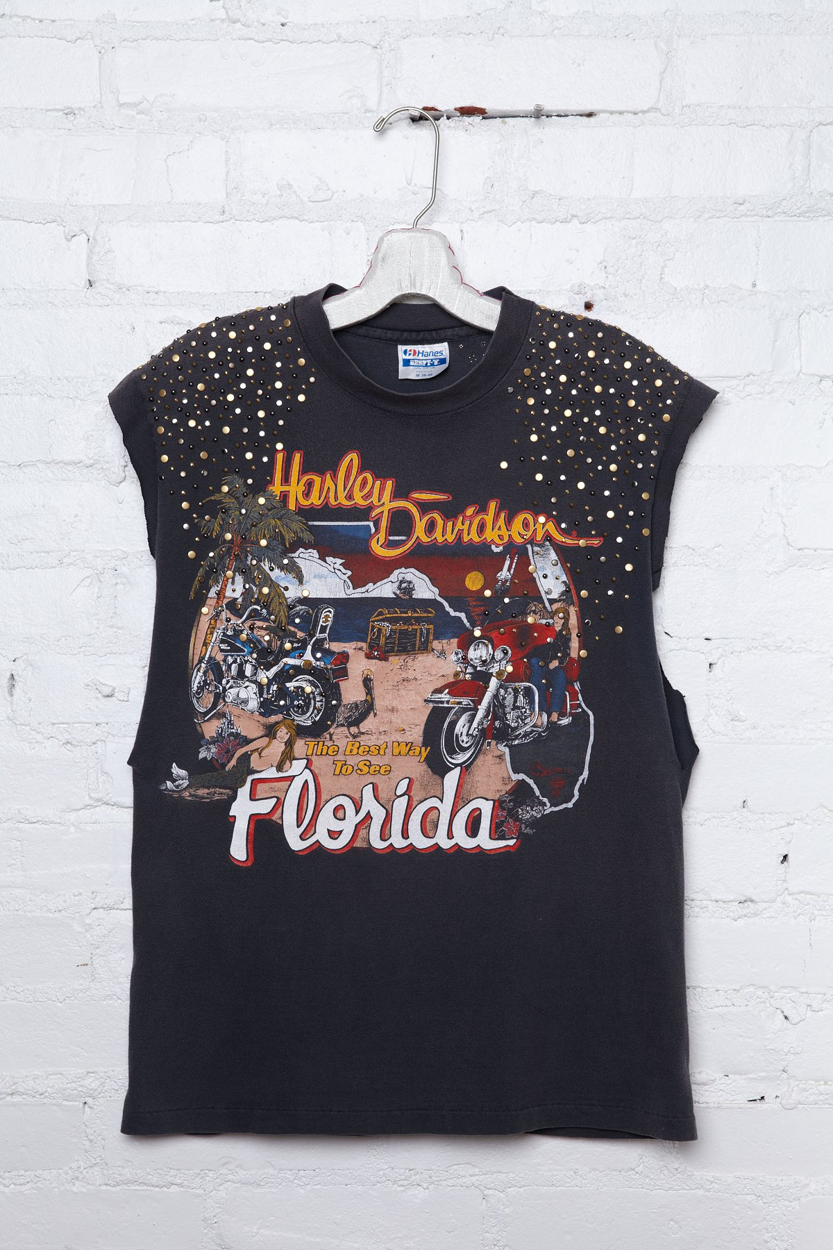 Vintage Studded Harley Davidson Tee