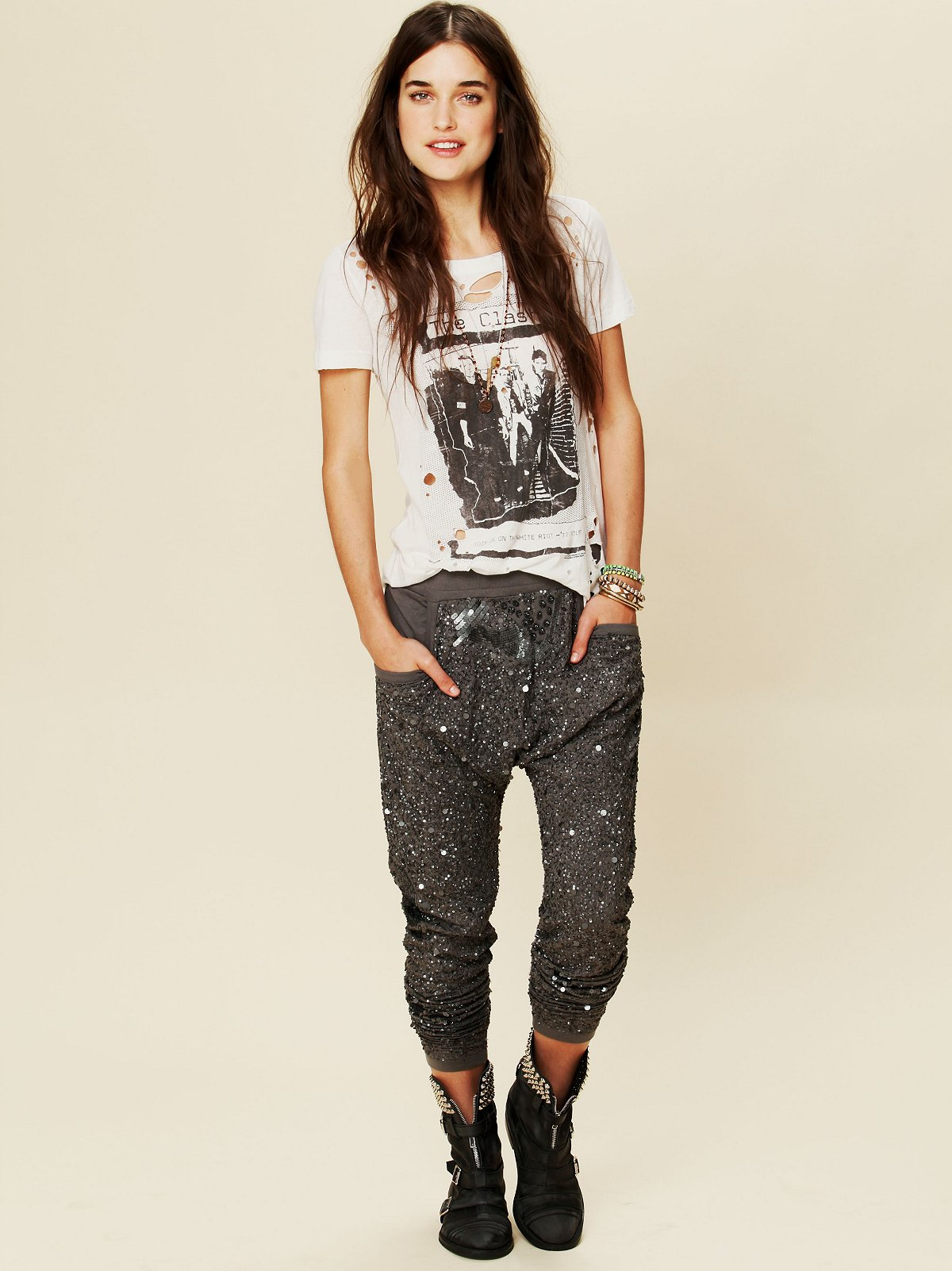 Mermaid Sequin Harem Pants
