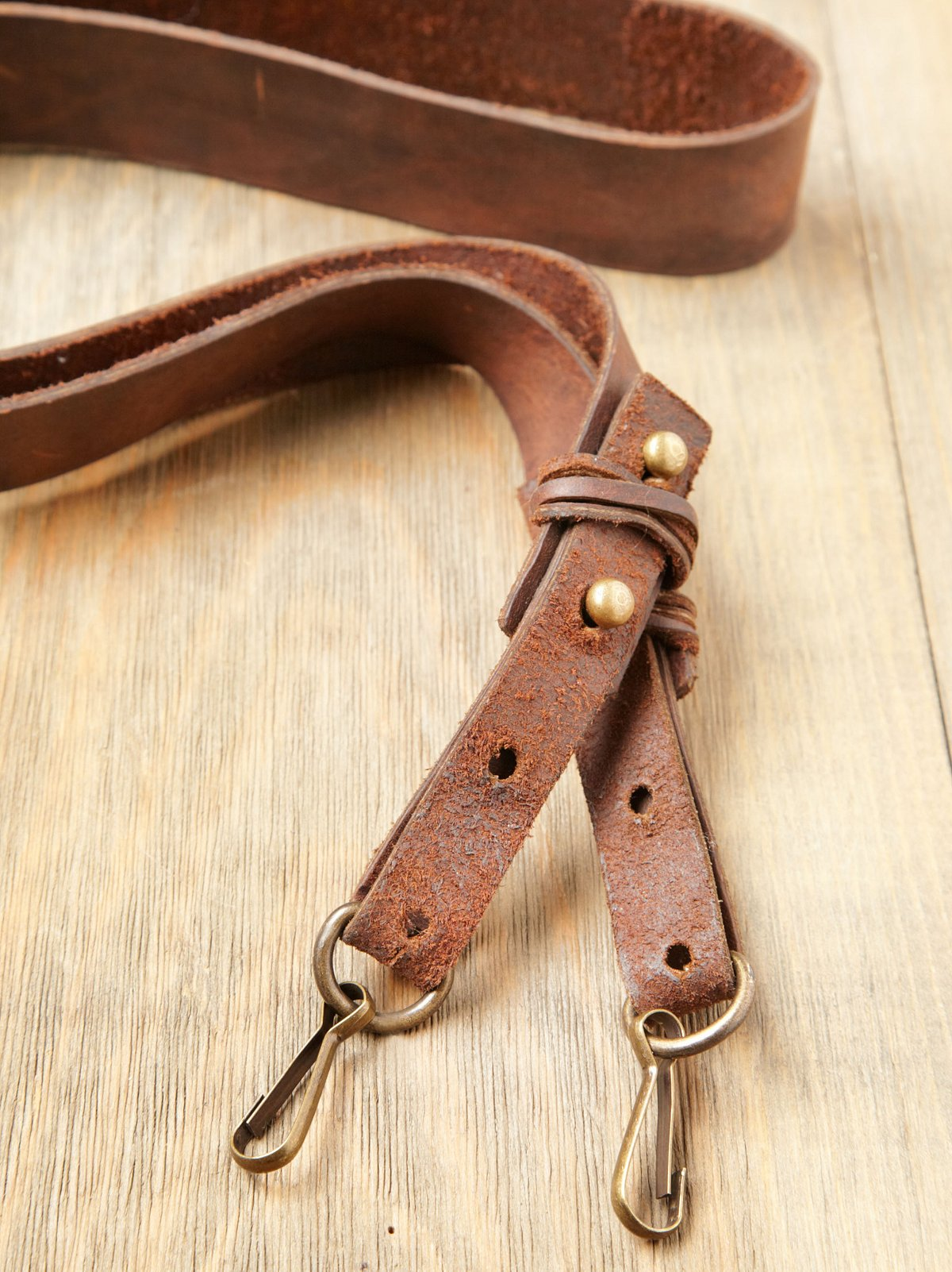 Aged Leather Camera Strap