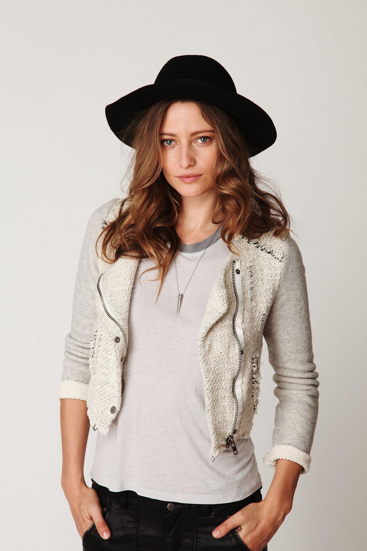 Textured Zip Up Jacket