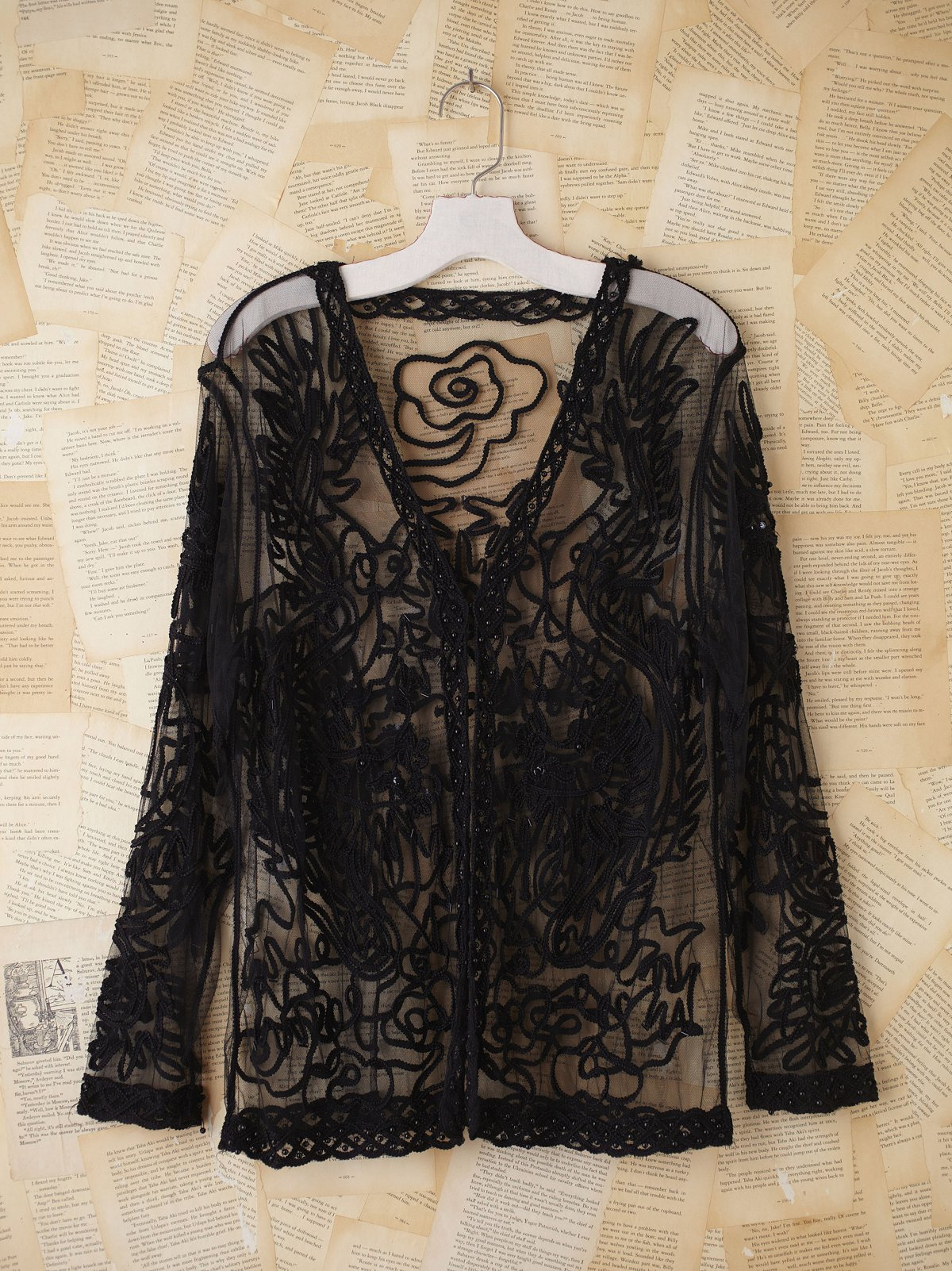 Vintage Embroidered Mesh Jacket