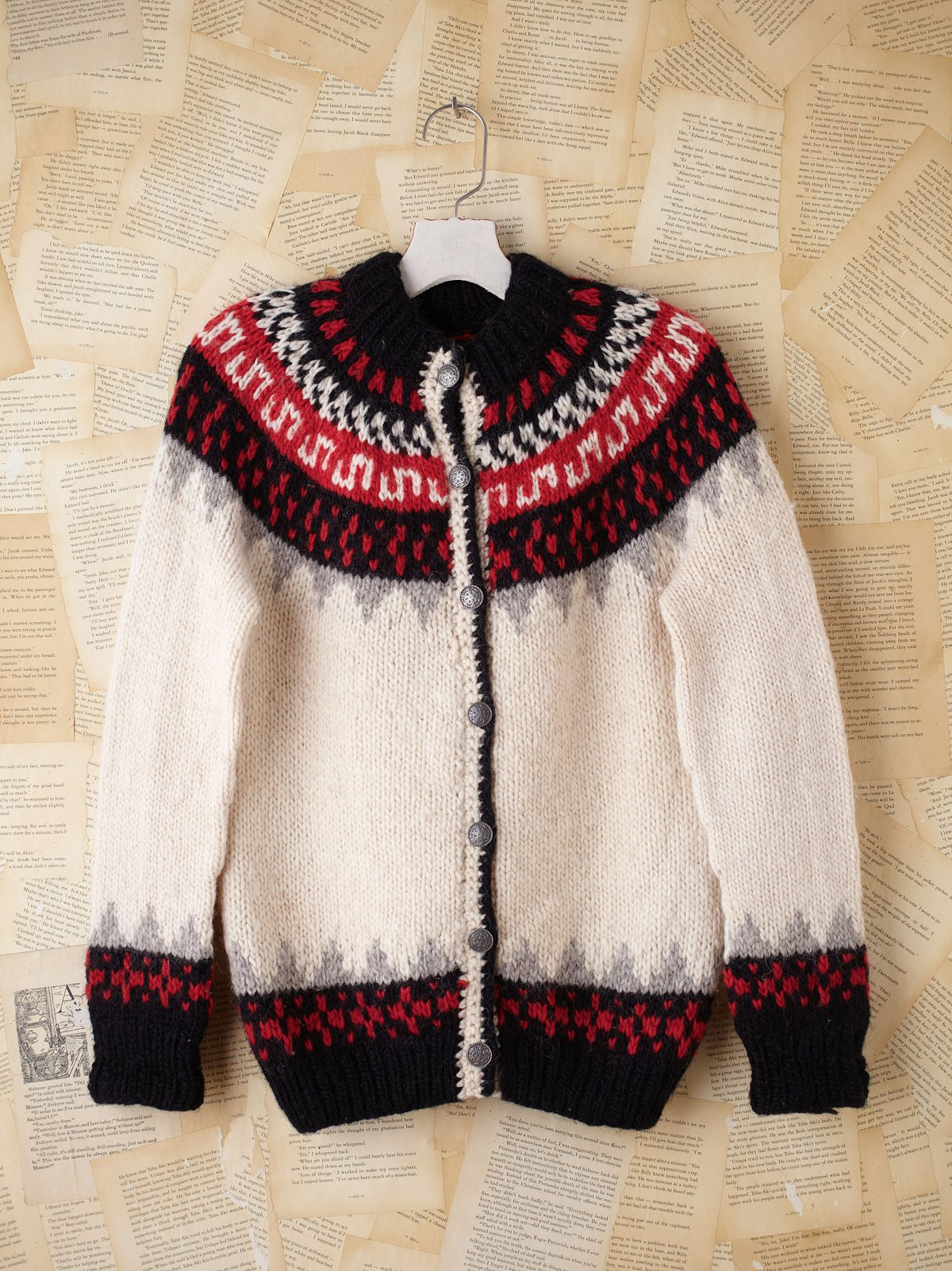 Vintage Scandinavian Fairisle Sweater Cardigan