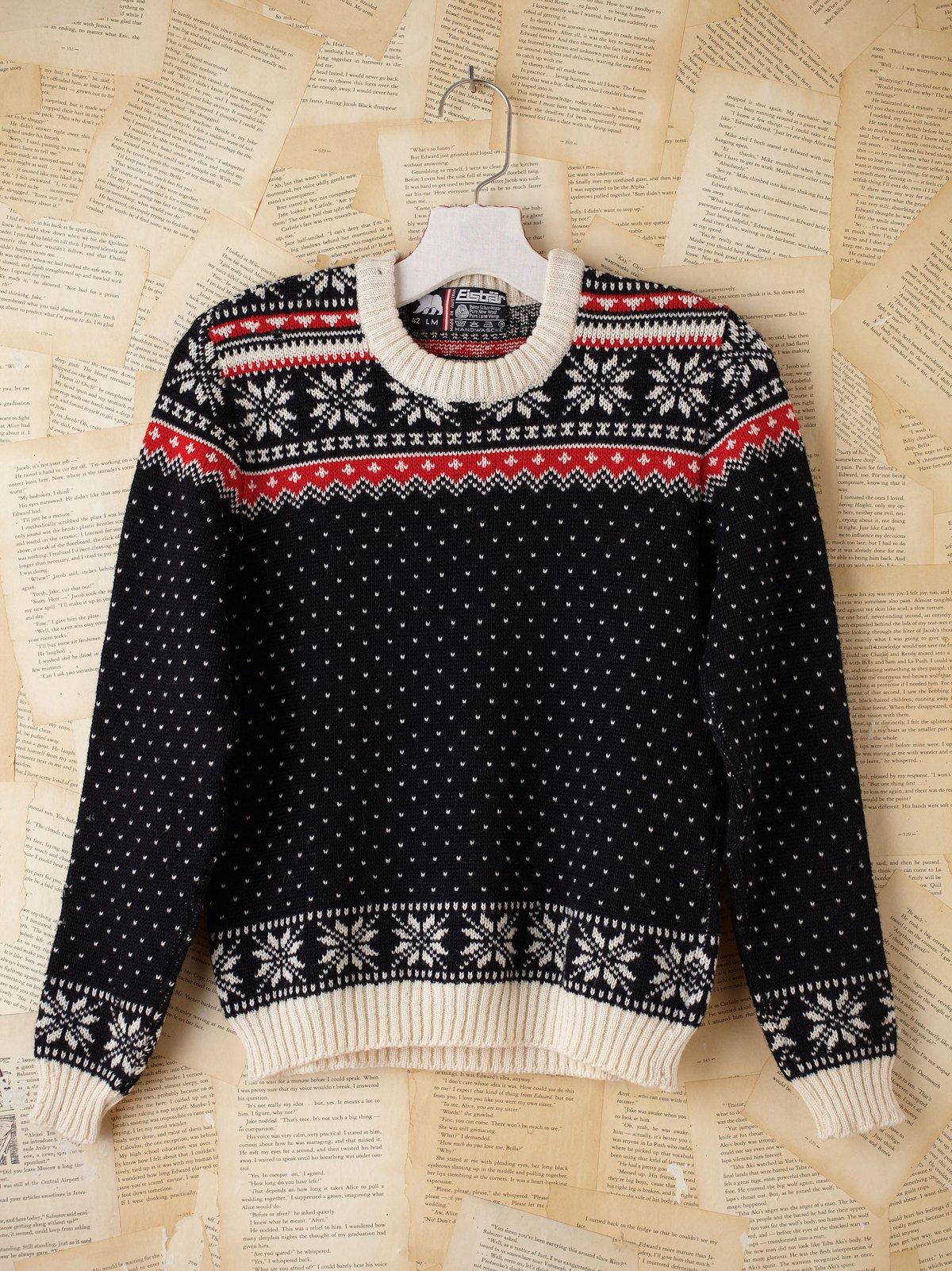 Vintage Fairisle Ski Pullover Sweater