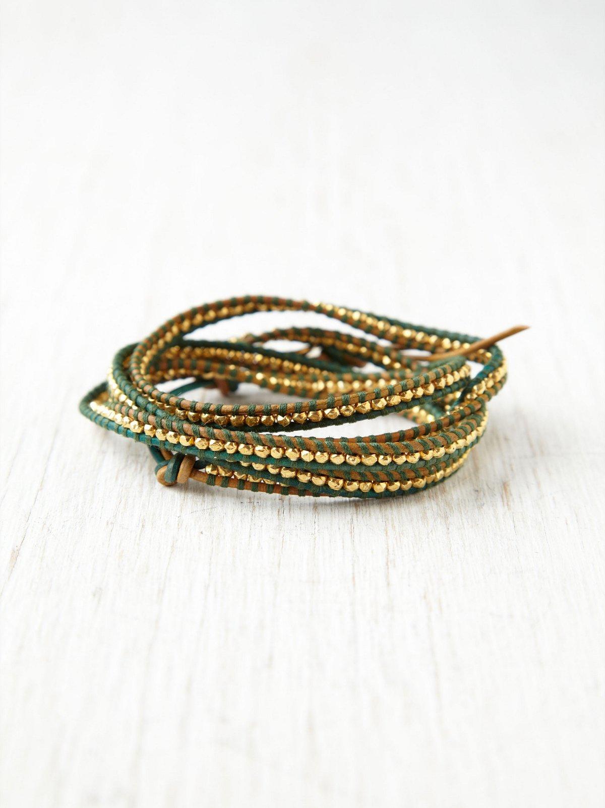 Aryn Contrast Stitch Wrap  Bracelet