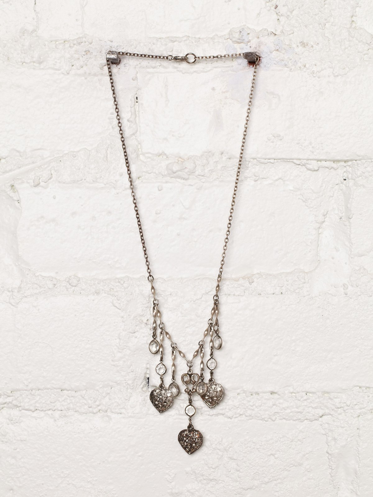 Vintage Dangling Heart Necklace