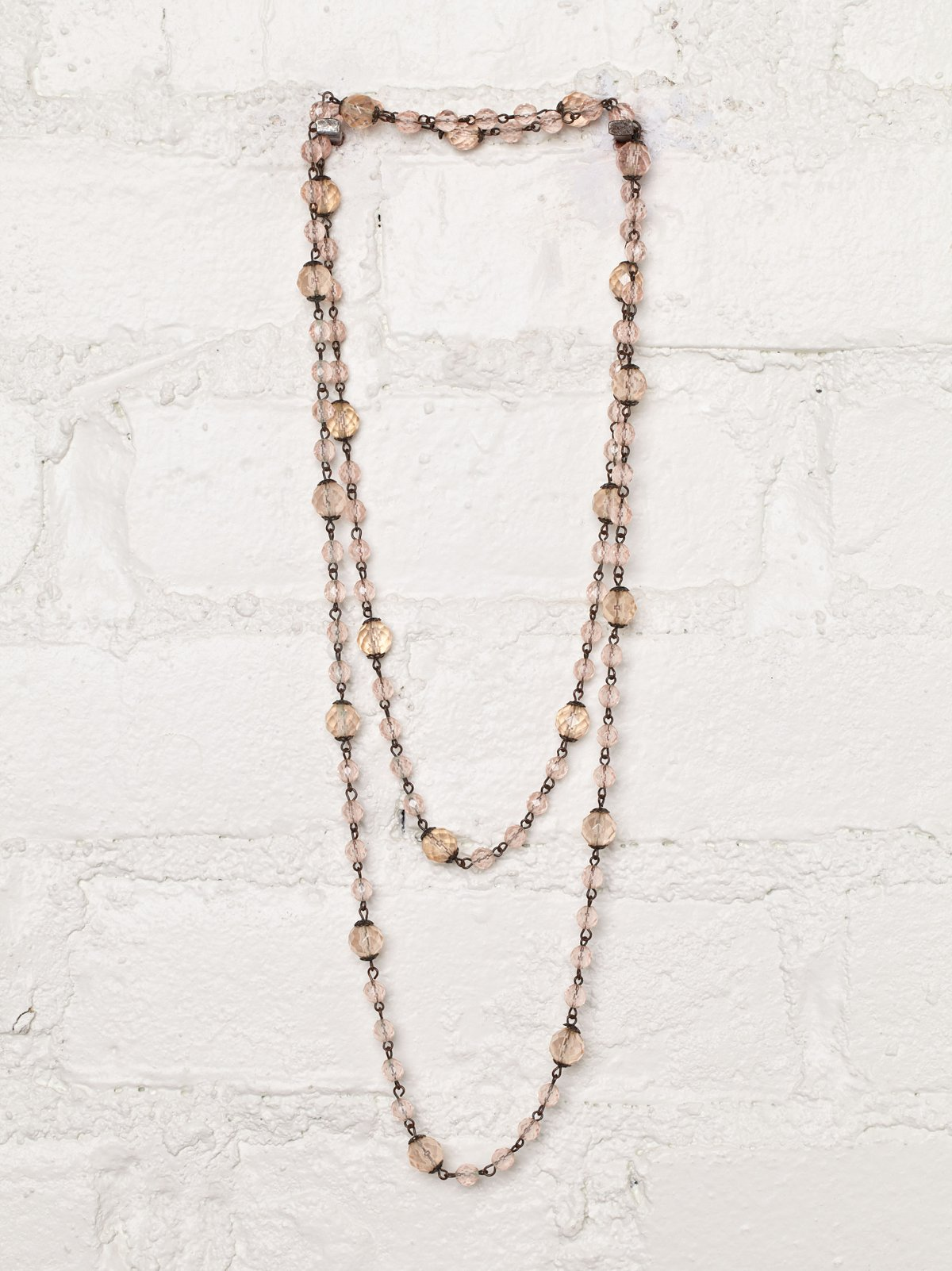 Vintage Dusty Rose Bead Necklace