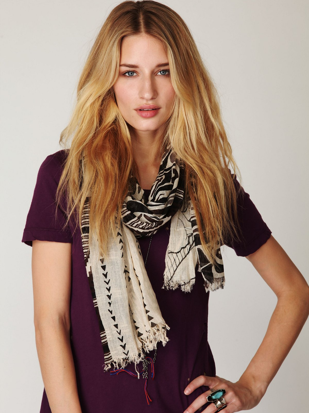 Tribal Graphic Scarf
