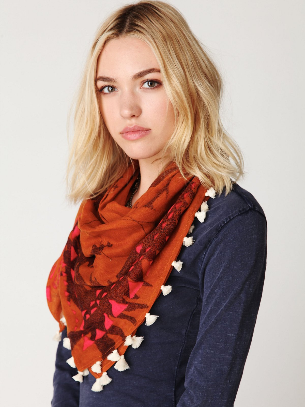 Geo Pop Triangle Scarf