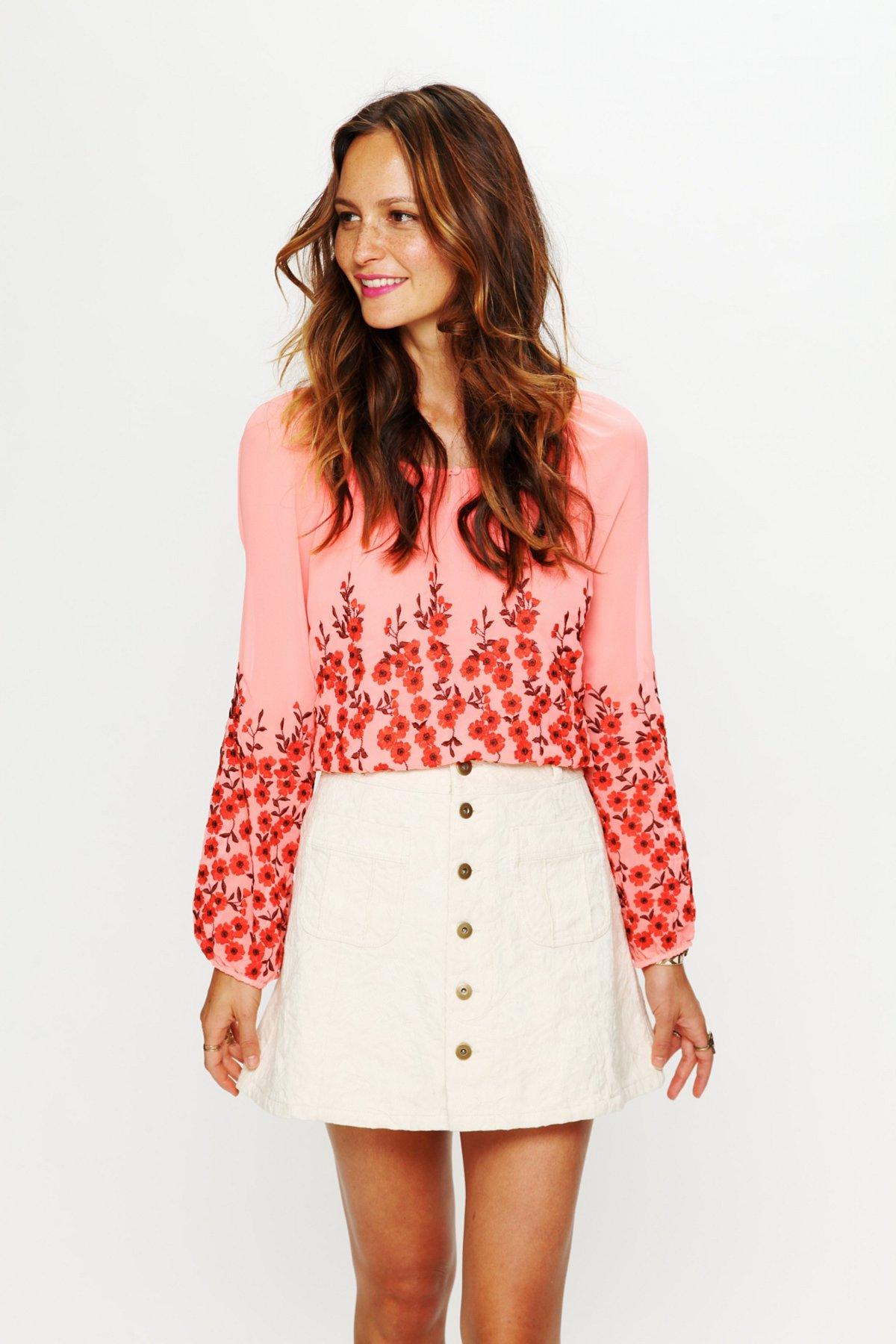Molly Jacquard High Waist Circle Skirt