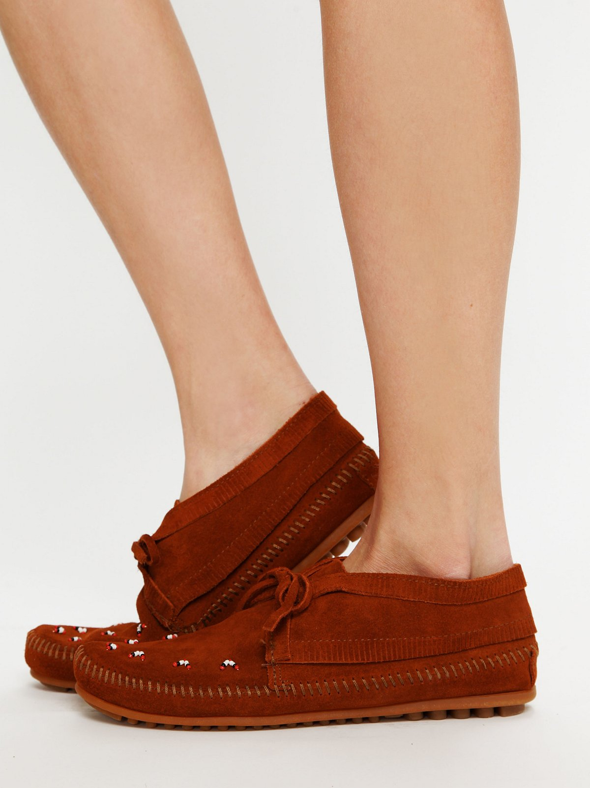 Beaded Ankle Moccasin