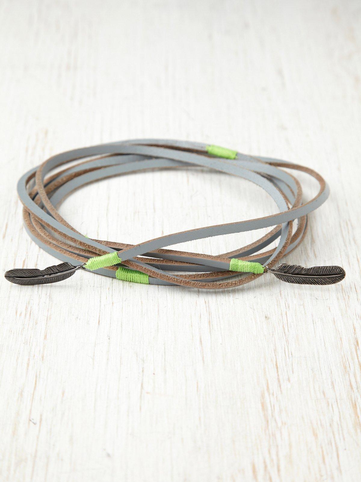 Feather Tie Belt
