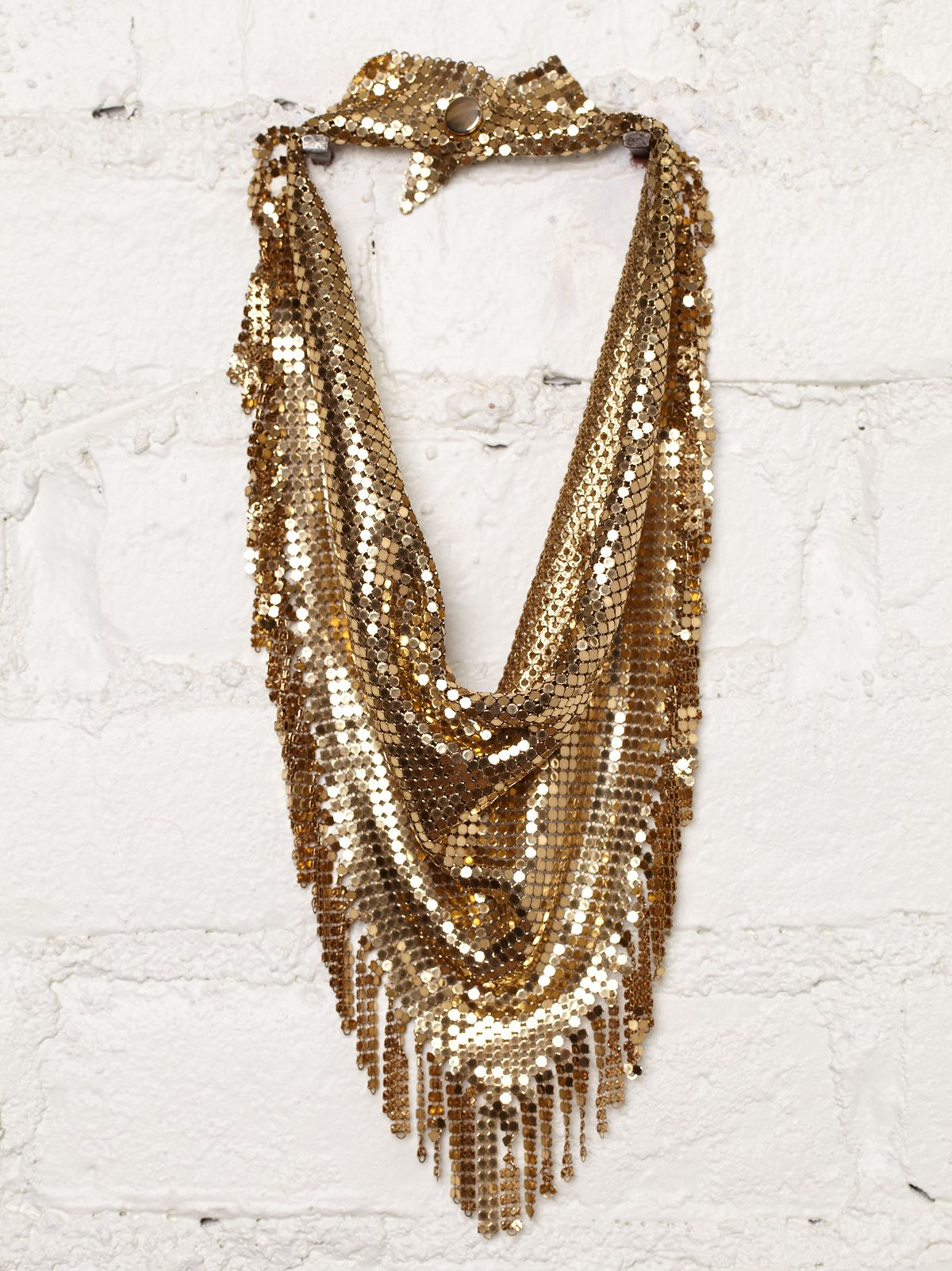 Vintage Chainmail Bib Necklace