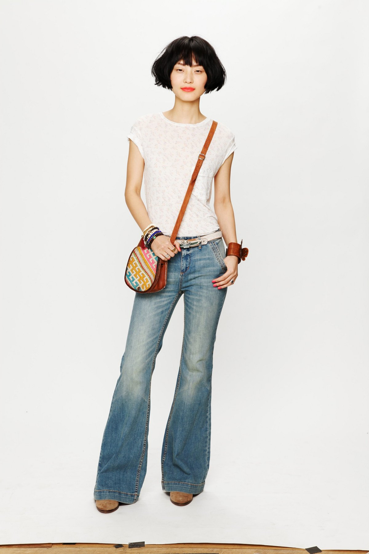 Denim Trousers with Pocket Details